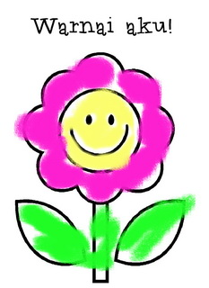 sahabat mewarnai bunga potong? Atau pernah melihat iklan bunga ...
